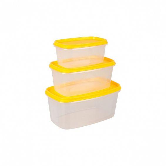 Set 3 cutii alimente, dreptunghiulare, Food