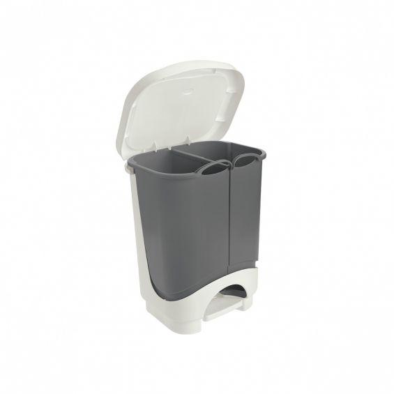 Cos cu pedala, 2 compartimente, 10,5 litri, Idea