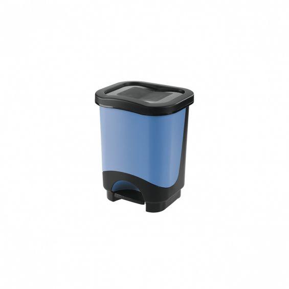 Cos cu pedala, 8 litri, Idea, cadru negru