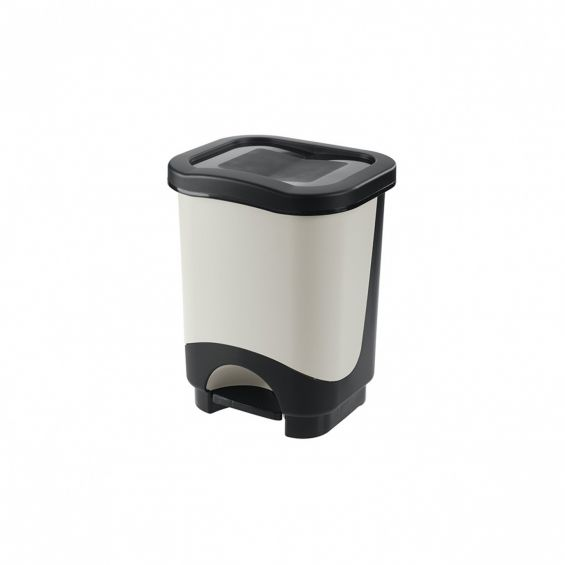 Cos cu pedala, 18 litri, Idea, cadru negru