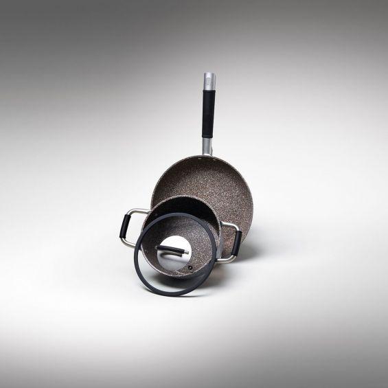 Cratita joasa, cu particule minerale si manere, diametru 24 cm, Gran Gourmet