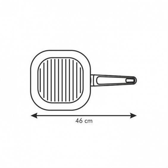 Tigaie grill, 26x26 cm, Premium