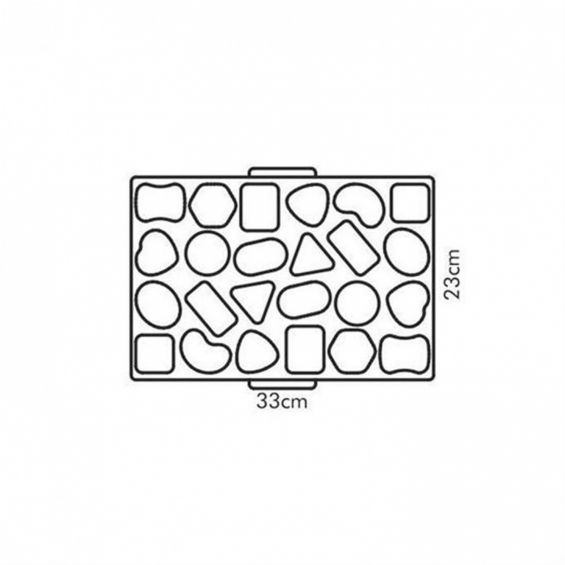 Tipar 24 biscuiti, 33x23 cm, Delicia