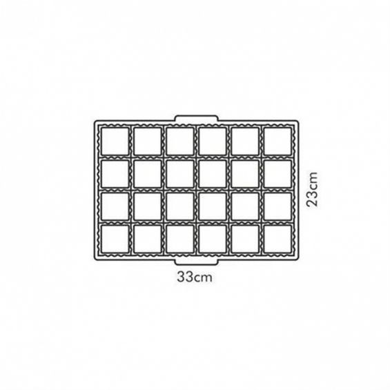 Tipar 24 pateuri, 33x23 cm, Delicia
