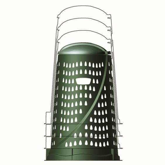 Compostor, 110 litri, Vario, verde
