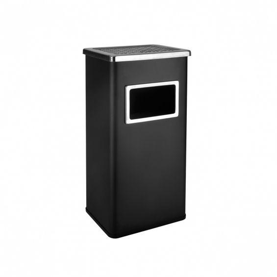 Cos gunoi cu scrumiera, 24x30x60,5cm, negru
