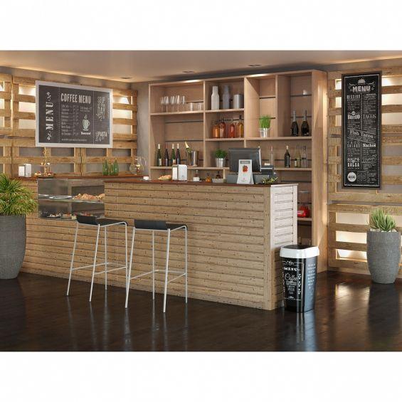 Cos gunoi, Style M, Coffee