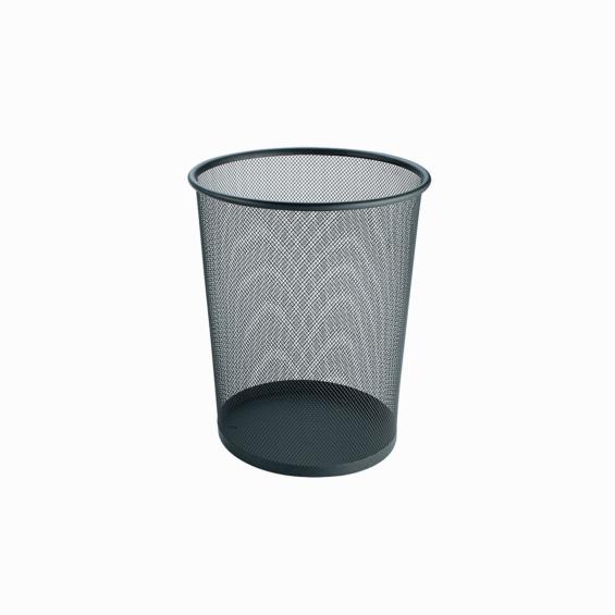 Cos rotund din sarma inox, marimea M, diametru 26 cm, negru