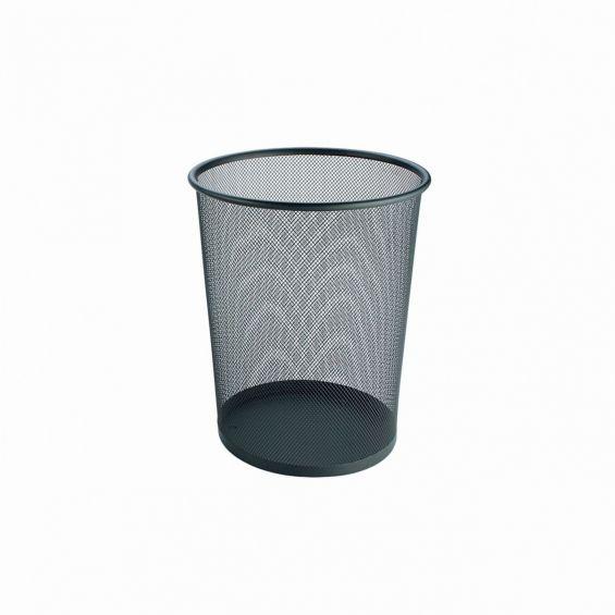 Cos rotund din sarma inox, marimea L, diametru 29,5 cm, negru