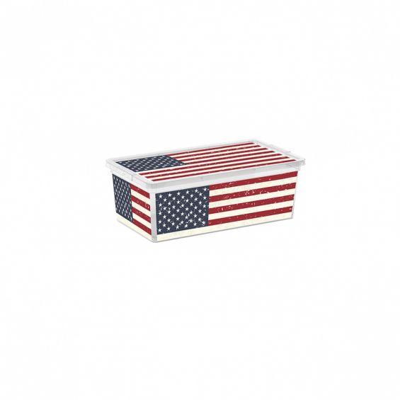 Cutie depozitare, 18 litri, C Box, American Flag M