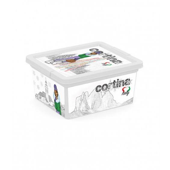 Cutie depozitare, 2 litri, C Box, Viva Italia XXS