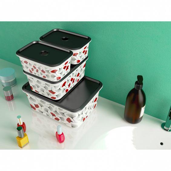 Cutie depozitare, 3 litri, Chic Box Plus, Wild Fruit Apple S
