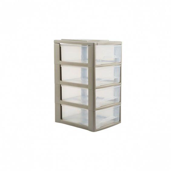 Dulapior plastic, 4 sertare, mici