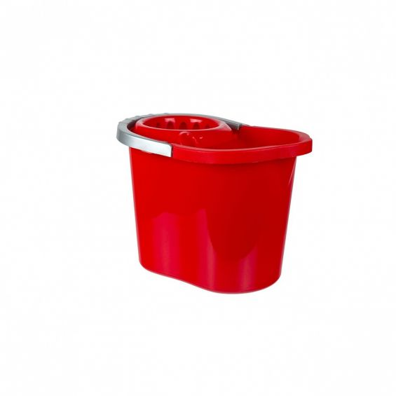 Galeata ovala, 13 litri, cu storcator si maner plastic, Gospodina