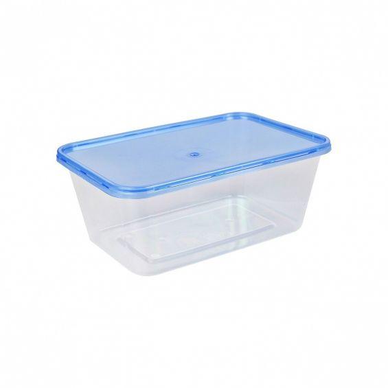 Set 10 cutii alimente, dreptunghiulare, 1 litru, Reusable