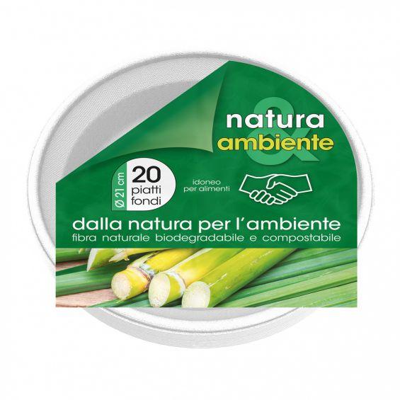 Set 20 boluri biodegradabile, 21 cm