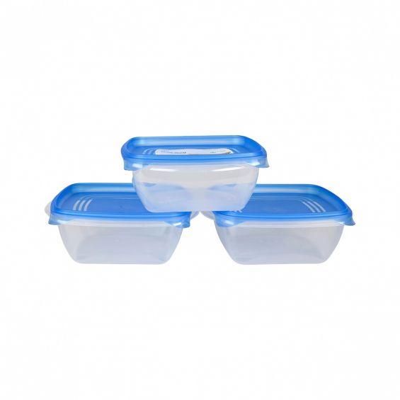 Set 3 cutii alimente, patrate, 800 ml