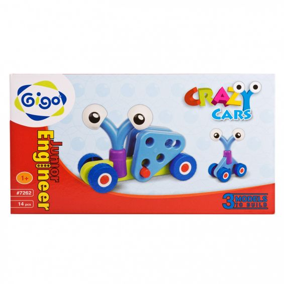 Set constructie Crazy cars, Gigo