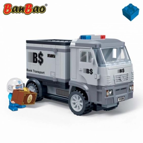 Set constructie Politie, masina blindata, Banbao