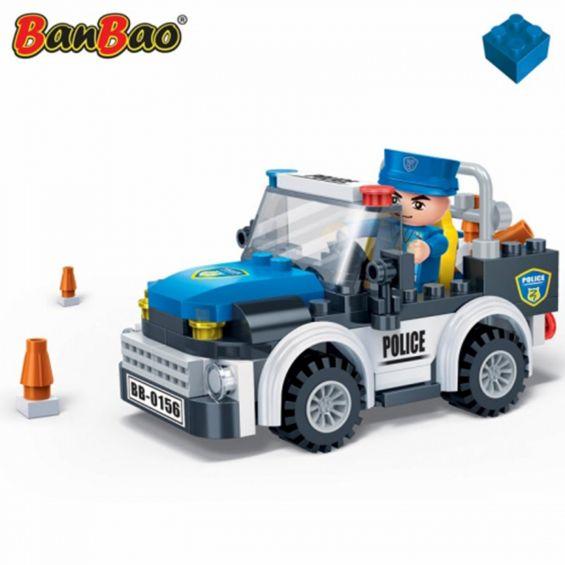 Set constructie Politie, masina de teren, Banbao