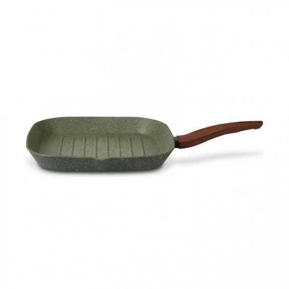 Tigaie grill cu maner, 28x28 cm, Natura Induction