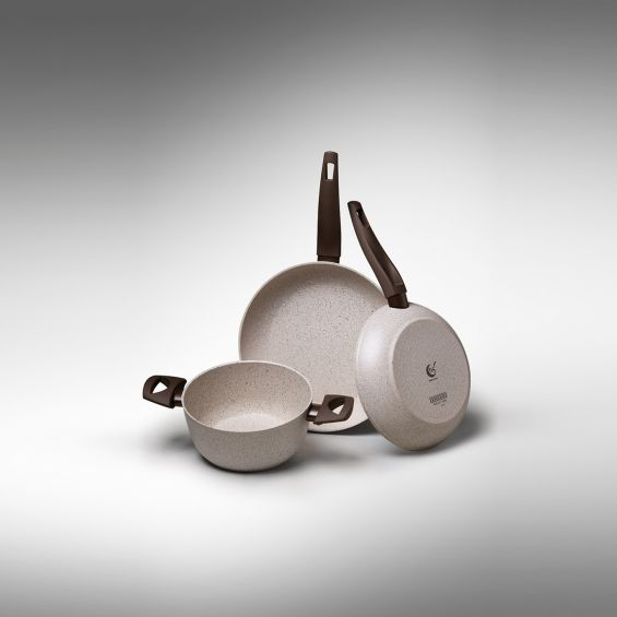 Tigaie wok cu particule minerale, diametru 28 cm, Gea Induction