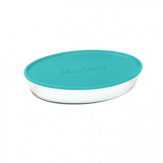 Vas oval cu capac de plastic, 2,4 litri, Marinex