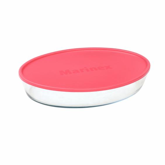 Vas oval cu capac de plastic, 3,2 litri, Marinex