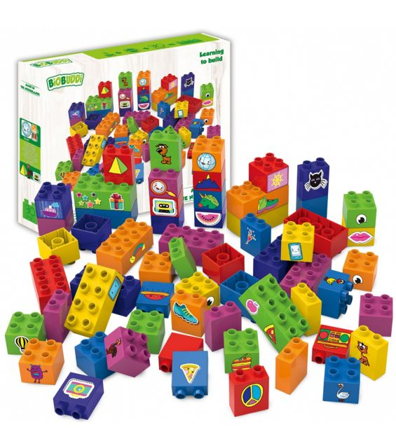 Set educational, 60 cuburi
