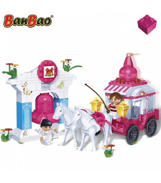 Set constructie Caleasca cu cai, Banbao