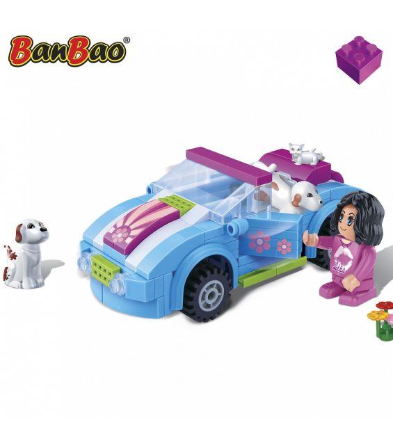 Set constructie Trendy City, masina decapotabila, Banbao
