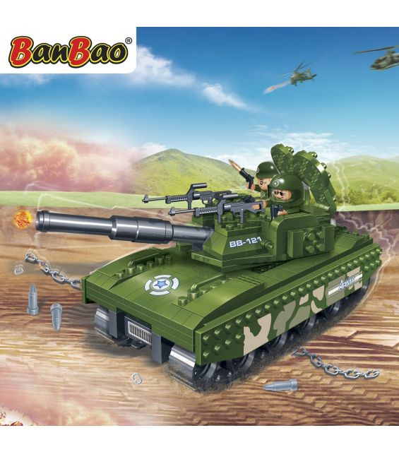 Set constructie Tanc leopard, Banbao