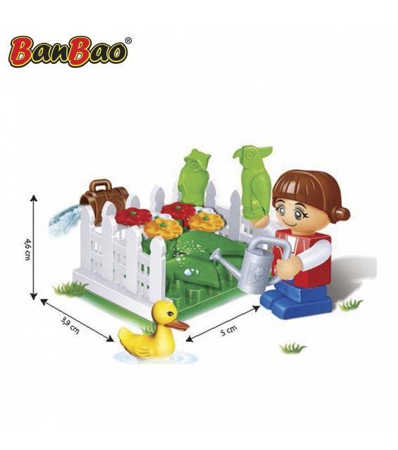 Set constructie Gradina cu flori, Banbao