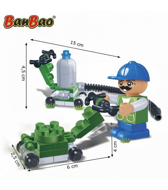 Set constructie Masina de tuns iarba, Banbao