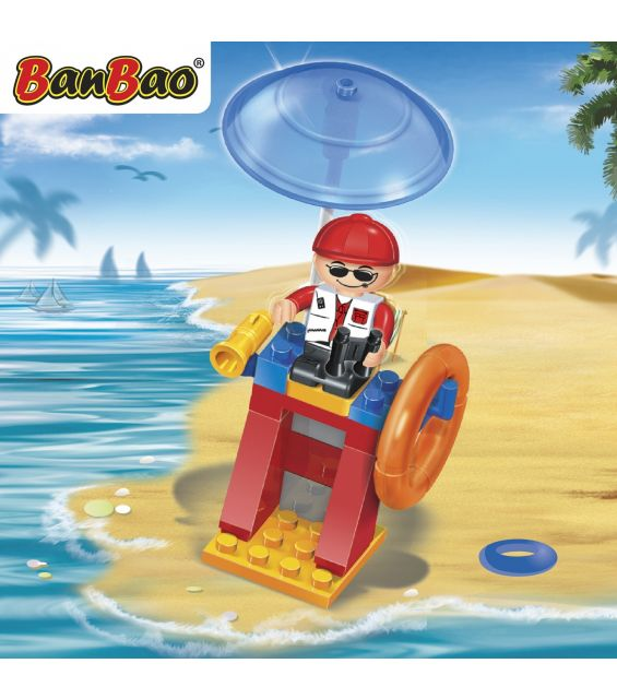 Set constructie Salvamar pe plaja, Banbao