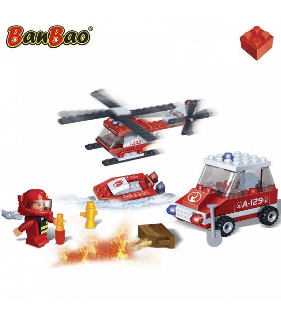 Set constructie Echipaj pompieri, Banbao