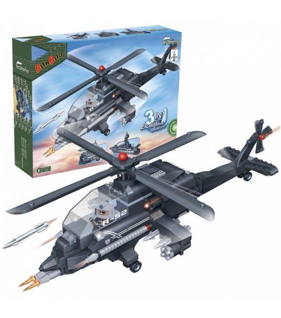 Set constructie, 3 in 1, elicopter, tanc si nava, Banbao