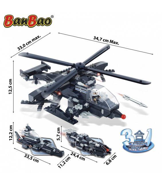 Set constructie 3 in 1 Aparare militara, Banbao