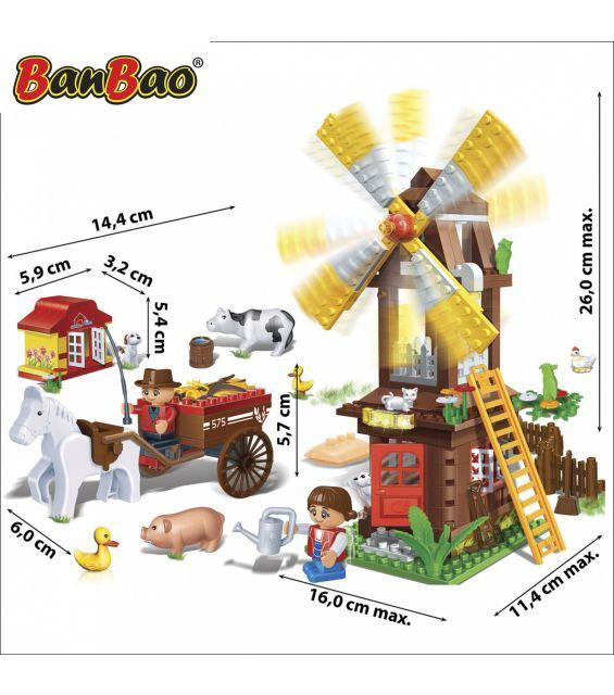 Set constructie Ferma cu moara, Banbao