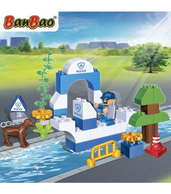 Set constructie Barca politie young, Banbao