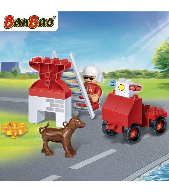 Set constructie Pompier salvator young, Banbao
