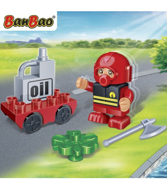 Set constructie Pompier erou young, Banbao