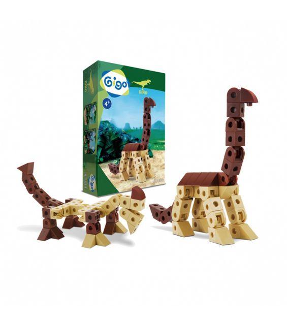 Set constructie Dinozaur cu gat lung, Gigo