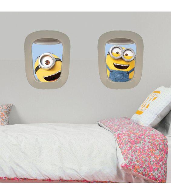 Sticker pentru perete, Hublou avion