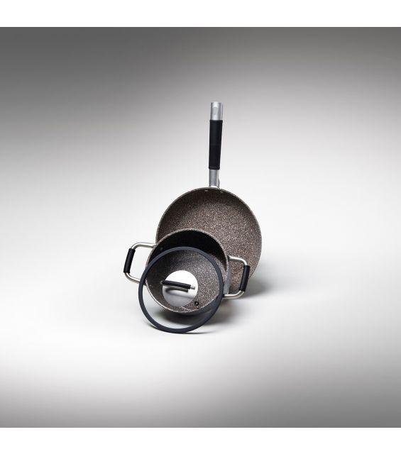 Capac sticla cu silicon, diametru 24 cm, Gran Gourmet
