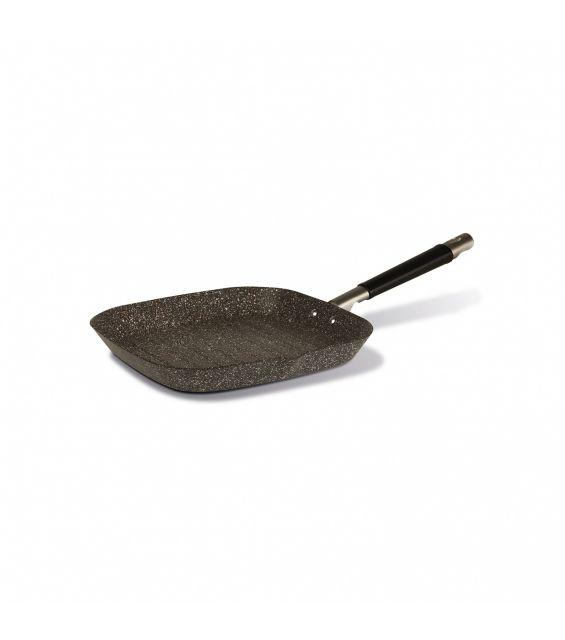 Tigaie grill cu particule minerale, 28x28 cm, Gran Gourmet