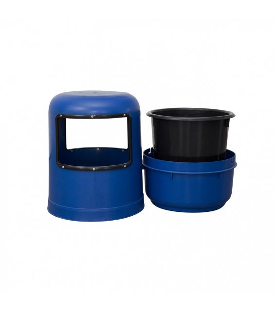 Cos gunoi, 75 litri, albastru
