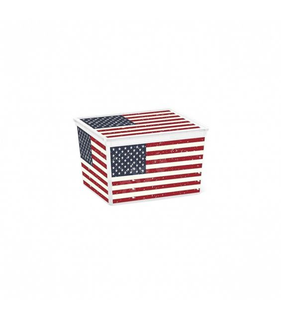 Cutie depozitare, 27 litri, C Box Cube, American Flag
