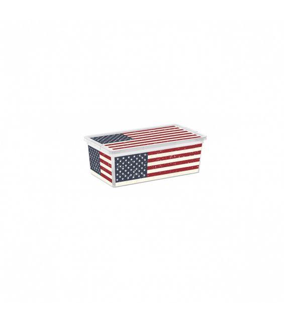 Cutie depozitare, 6 litri, C Box, American Flag XS