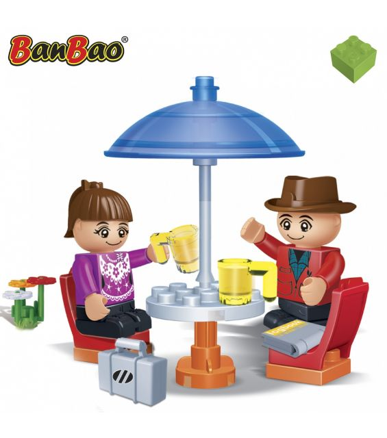 Set constructie Masa si umbrela, Banbao